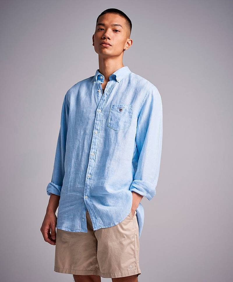 Skjorta The Linen Shirt Reg BD