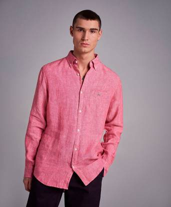 Gant The Linen Shirt Reg BD Rosa
