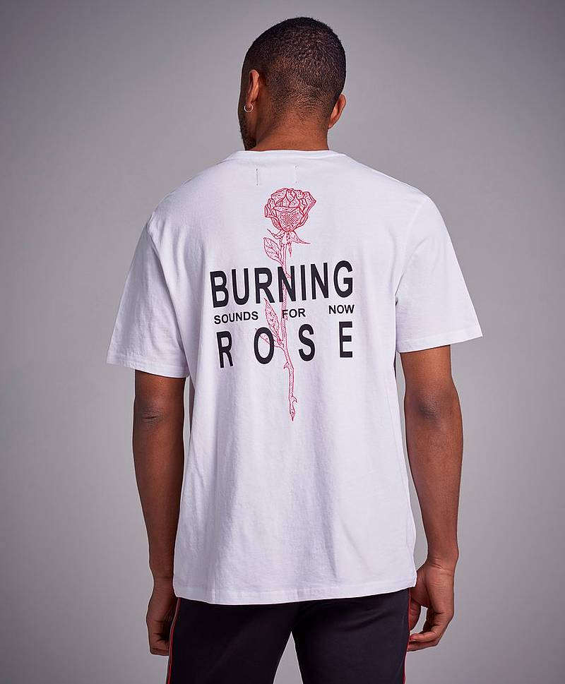 Burnning Rose Tee White