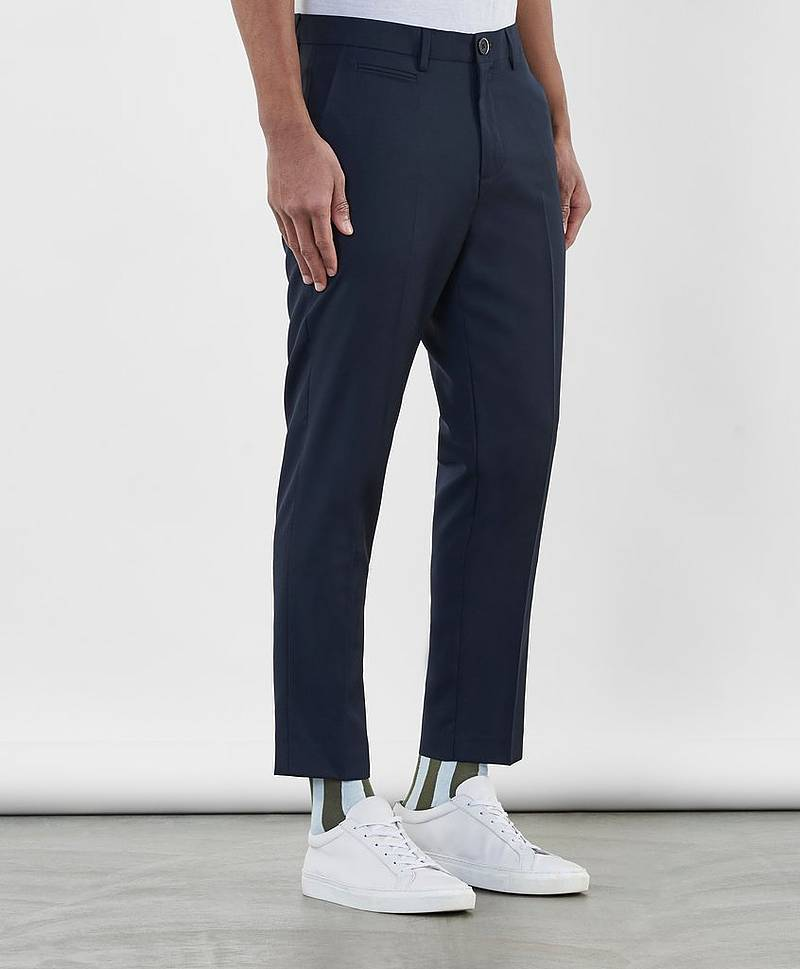 Cropped Chino Pant Dark Navy