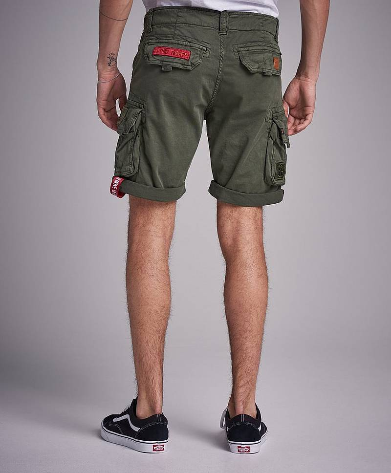 Crew Short Patch 142 Dark Olive