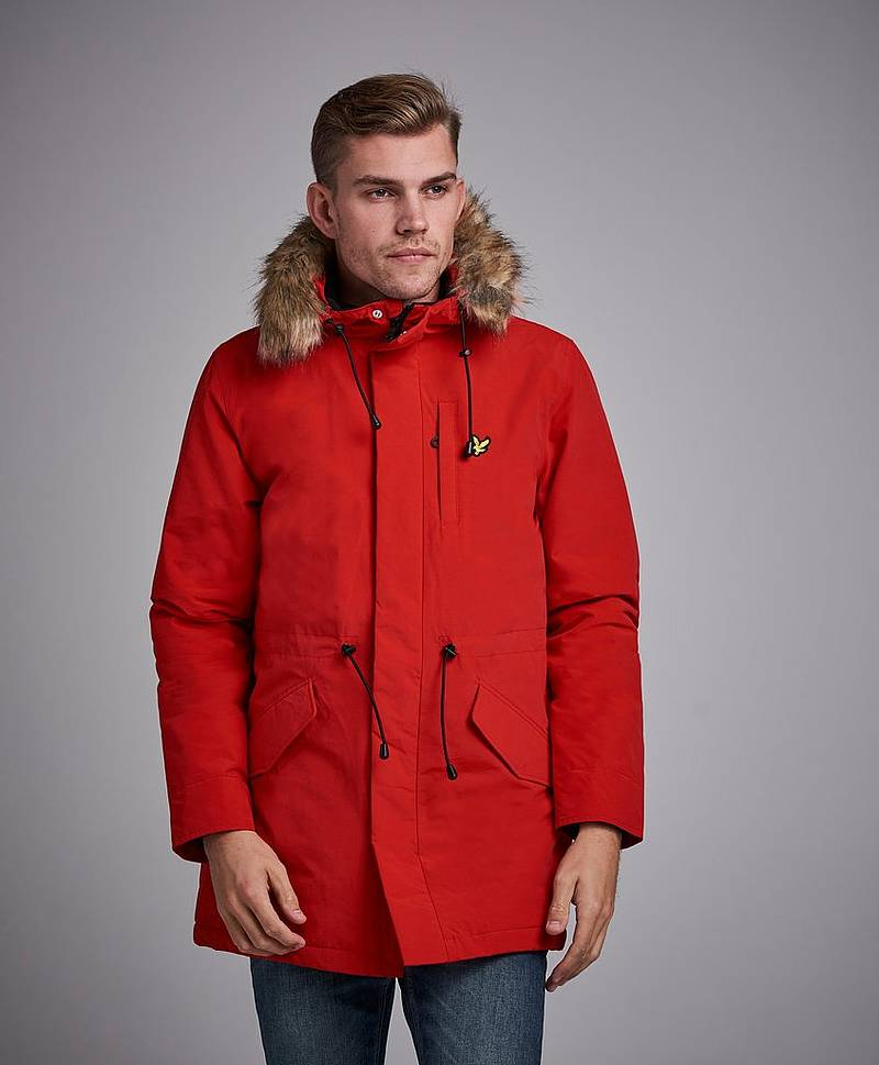Winter Weight Parka Z353 Tomato Red