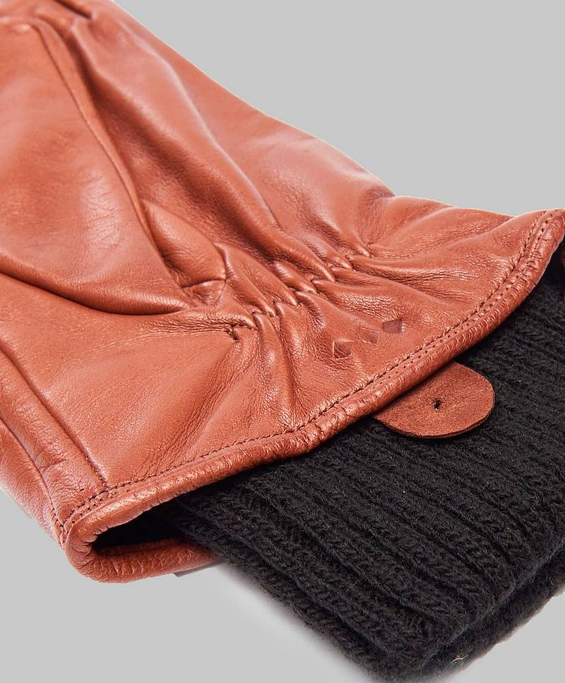 Ground Glove Short/ Wool Rib 06000 Tan