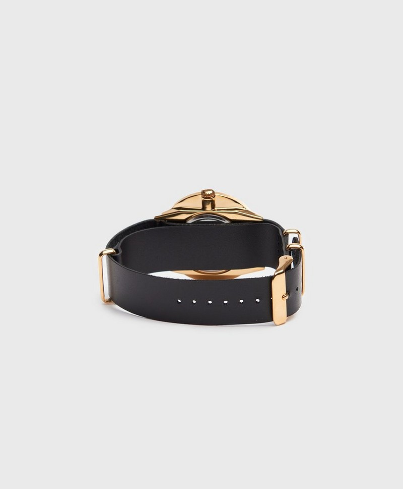 Klokke Harold Gold Black