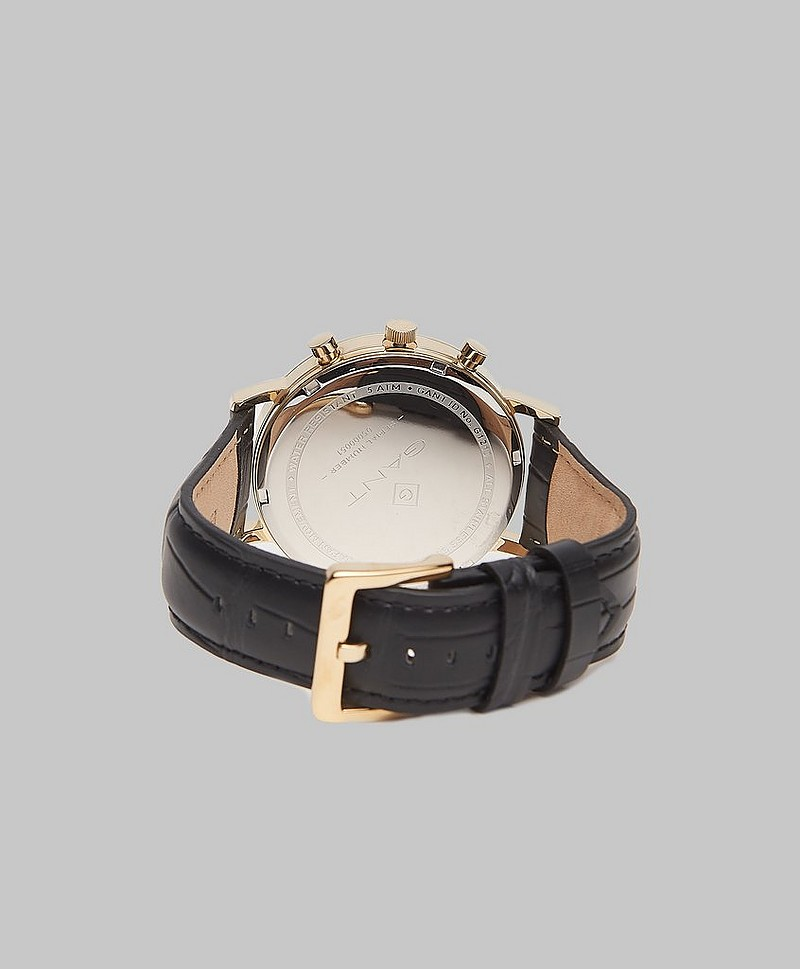 Klokke Park Hill II Black/Gold