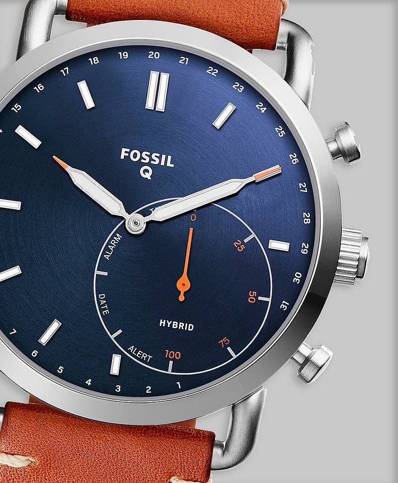 Fossil Hybrid FTW1151 Blue/Brown