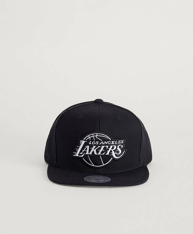 Keps Wool Solid Snapback LA Lakers Black/White