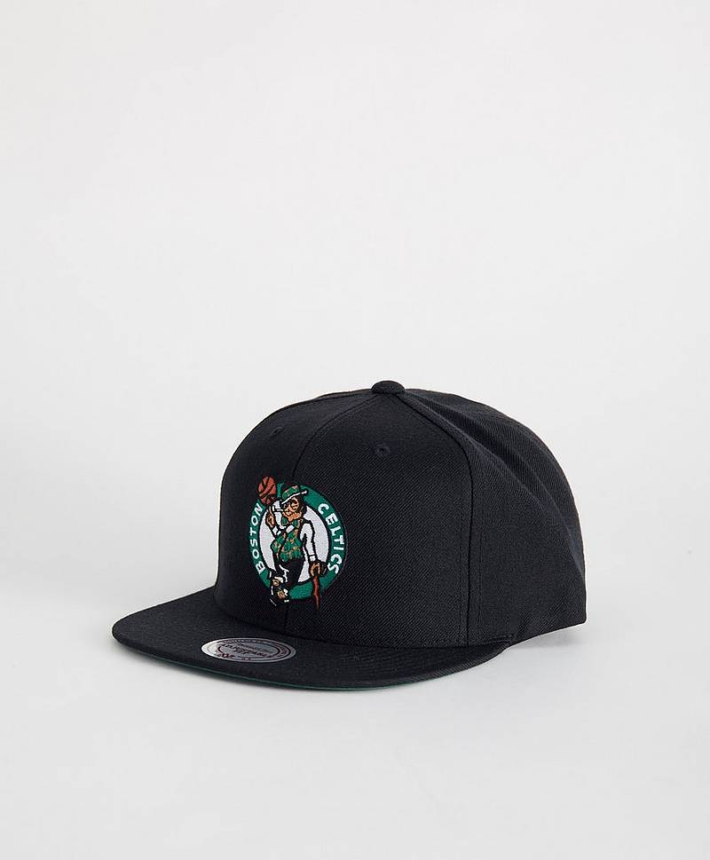 Keps Wool Solid Snapback Chicago Bulls Black