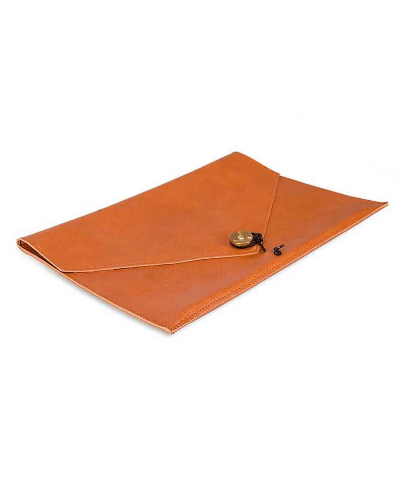 "Kungsten Leather Laptop Cover 13"" Tan"
