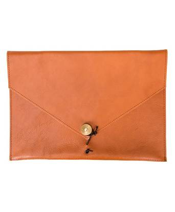 """P.A.P Kungsten Leather Laptop Cover 13"""" Tan Brun"""