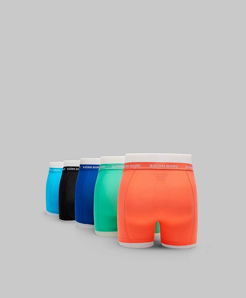 5-pack Seasonal Solid Sammy Shorts 70481 Aquarius
