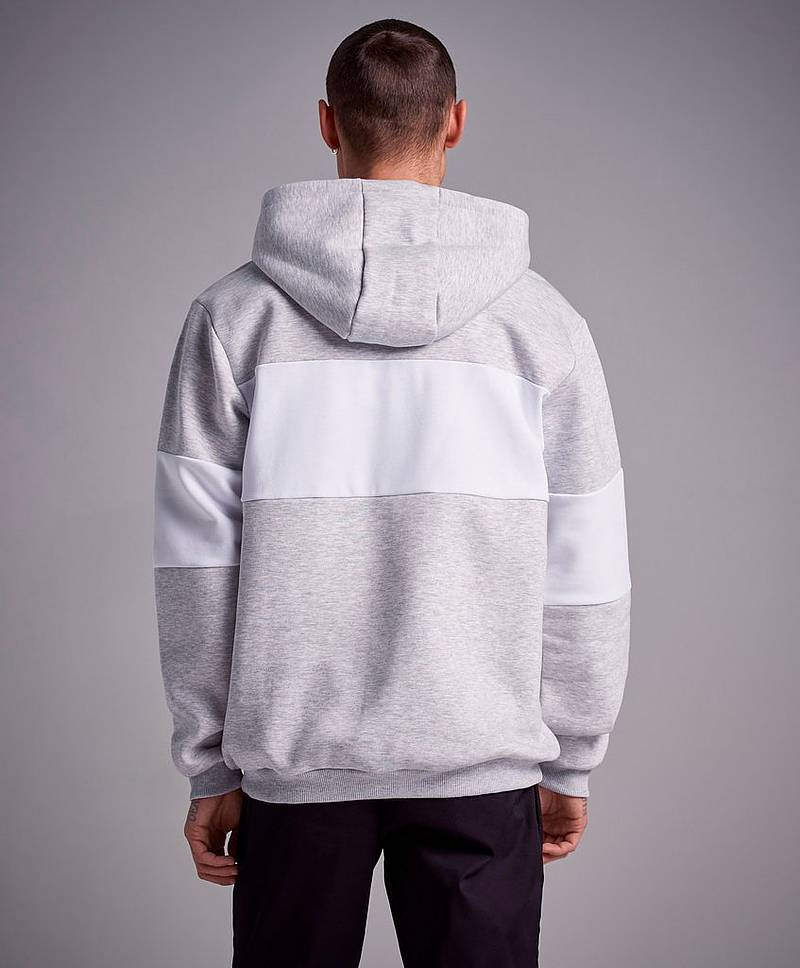Night Blocked Hoodie Light Grey Mel