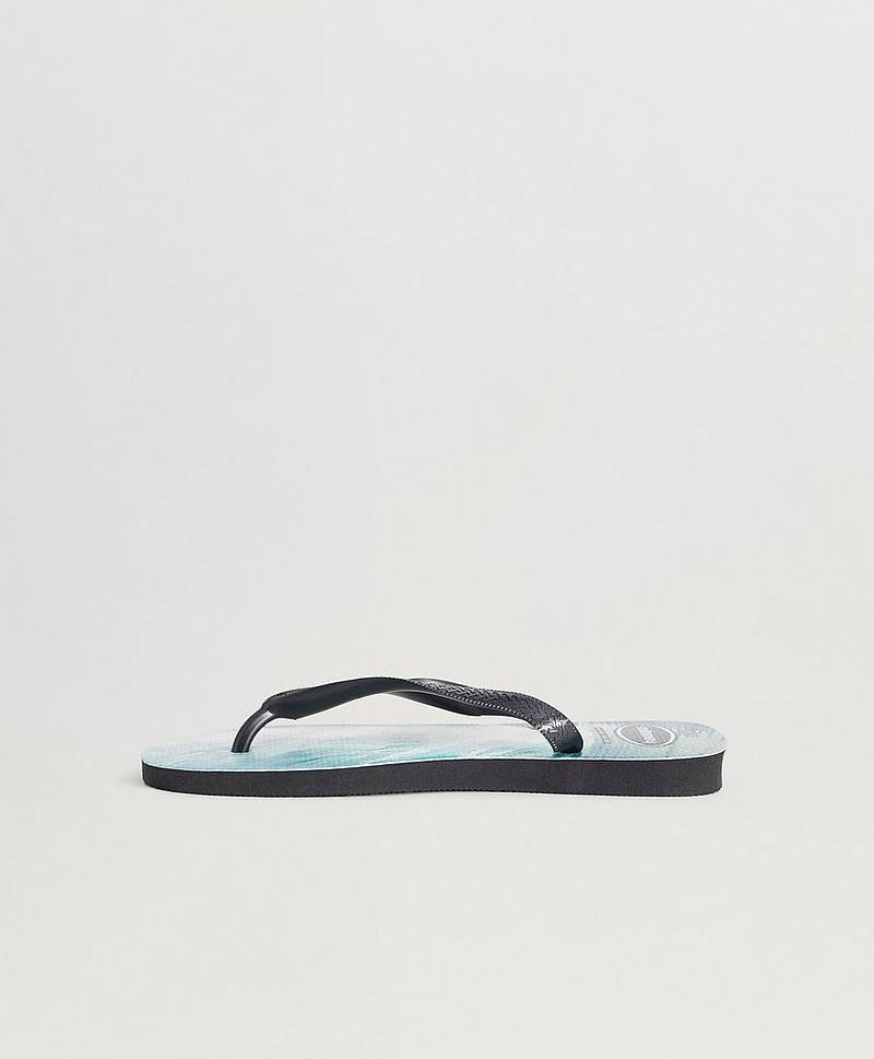 Flip Flops Top Photo Print Black/Black