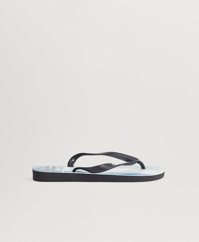 Flip Flops Top Photo Print Black / Black