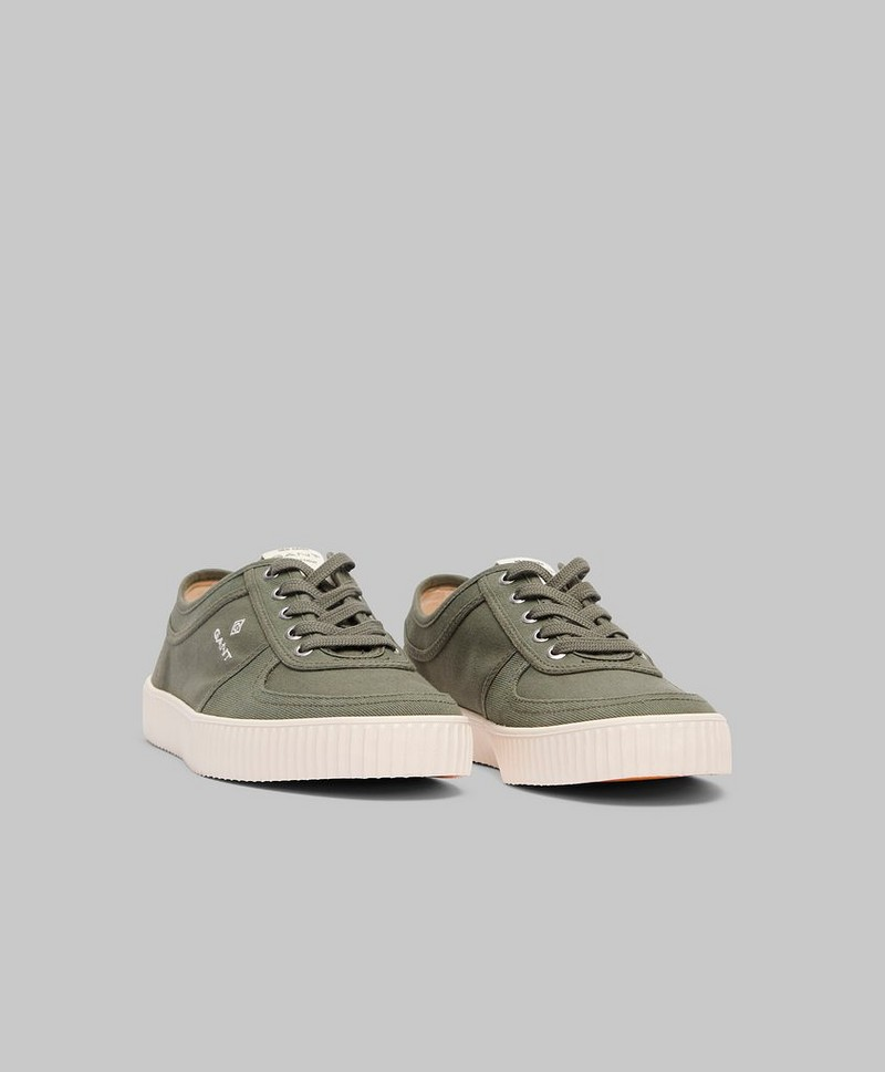 Sneakers Tellus Wash Organic Canvas G77 Khaki Green