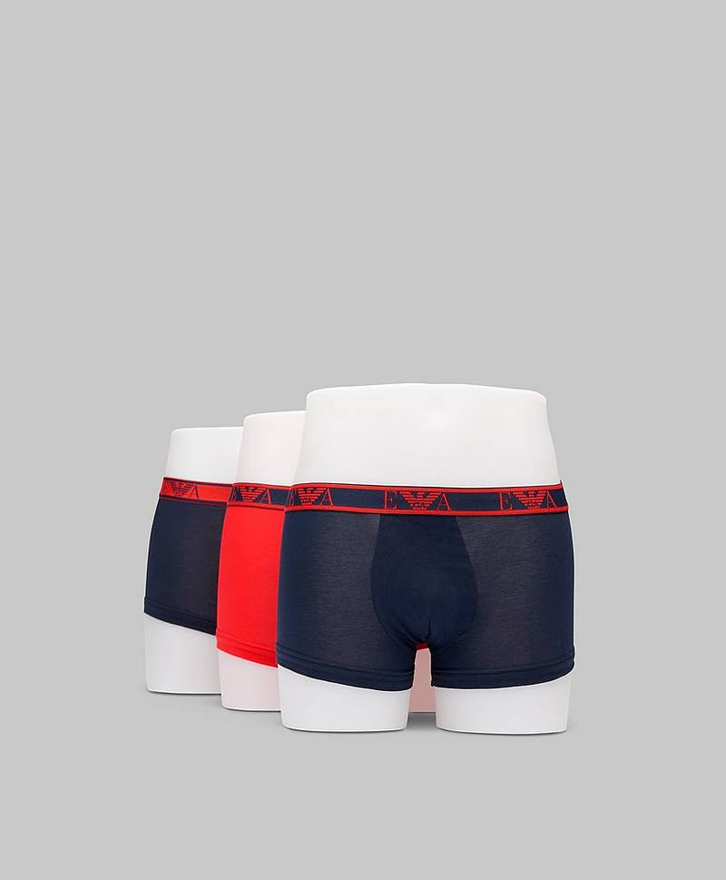3-pack Monogram Trunk White/Marine/Wave