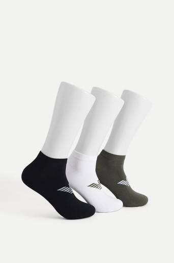 Bilde av Armani Ankelsokker In-shoe Socks 3-pk Hvit