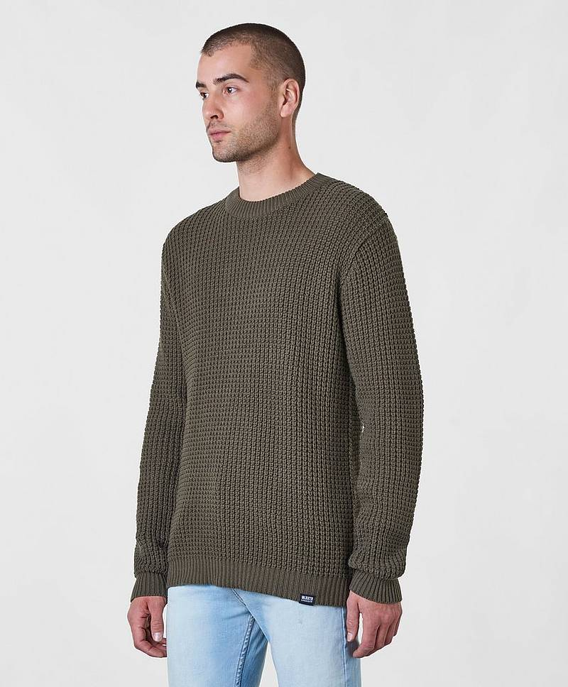 Strikket genser Nick Knitted Sweater Khaki