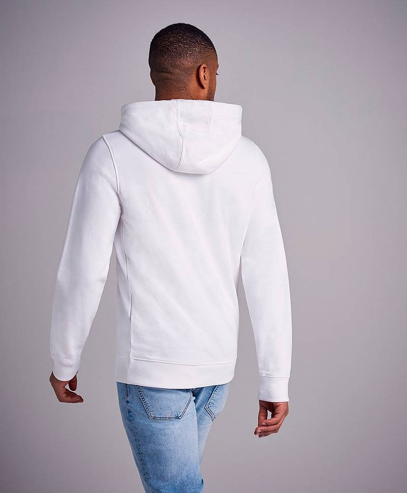TJM Essential Graphic Hoodie White