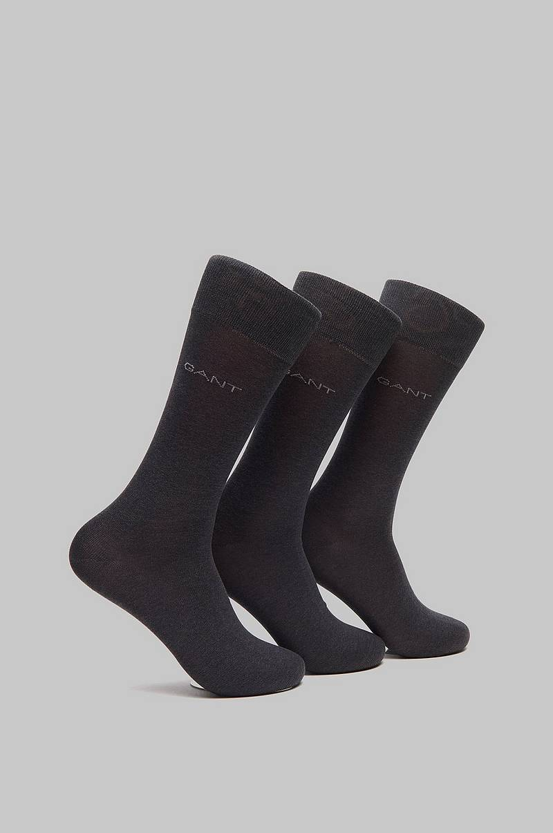 Strømper 3-pack Mercerized Cotton Socks