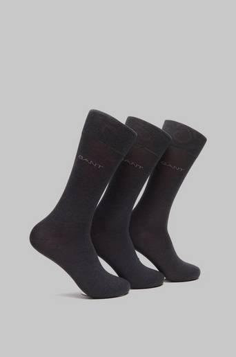 Gant 3-pack Mercerized Cotton Socks Grå