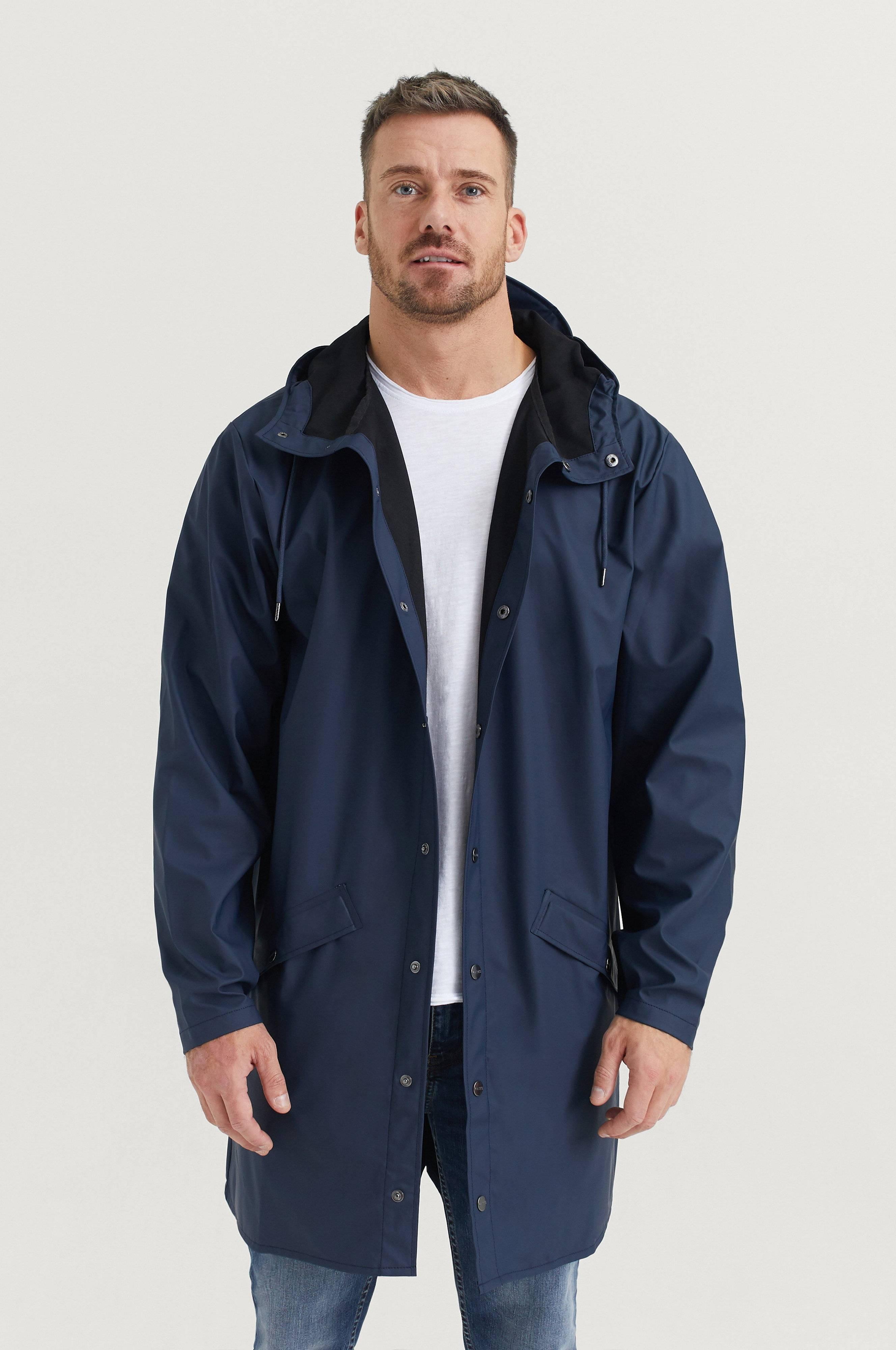 Rains Long Jacket Jackor Blue