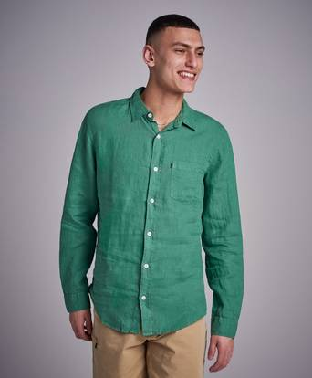 Lexington Ryan Linen Shirt Grön
