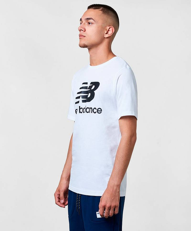 Essentials Stacked Logo T WT