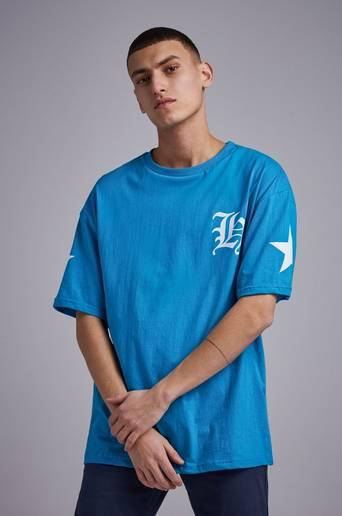 Bilde av Adrian Hammond T-shirt Tape Sleeve Tee Blå