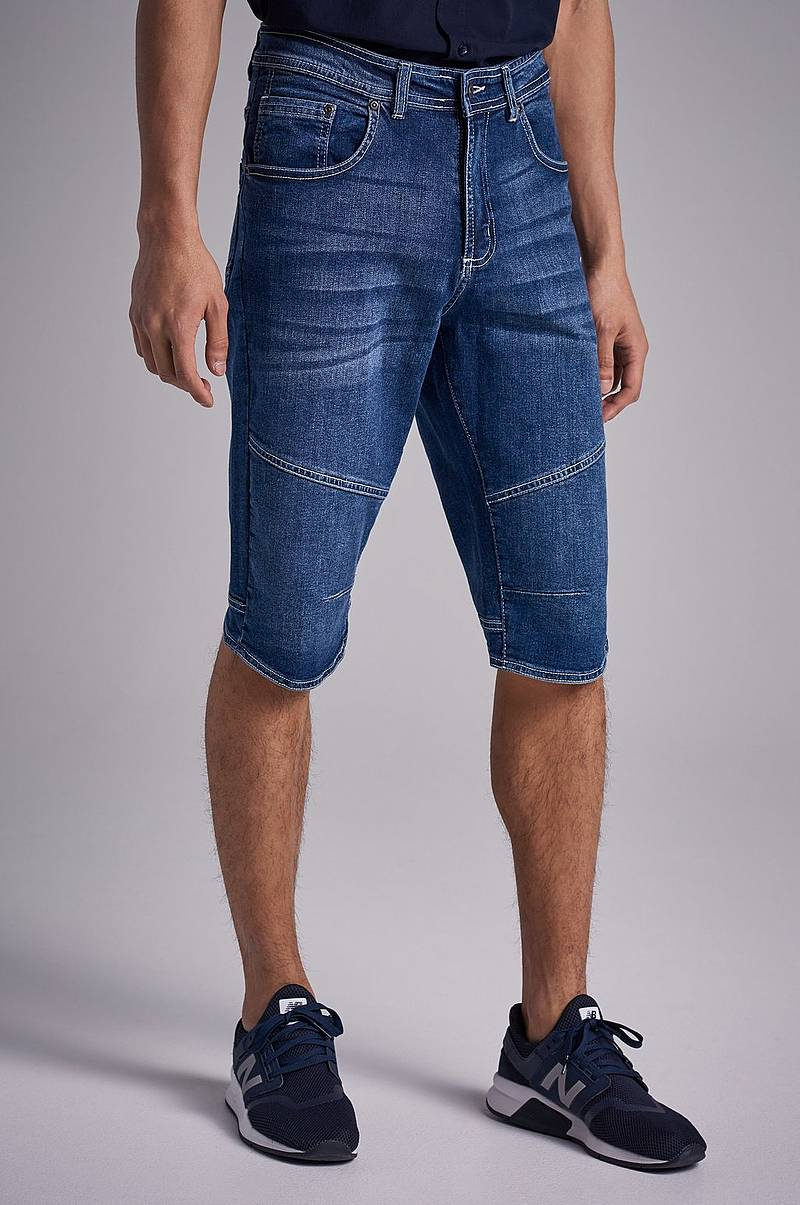 Jeansshorts Long Denim Shorts