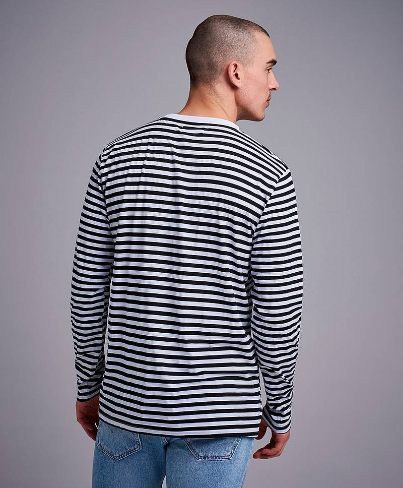 Japanese striped LS tee
