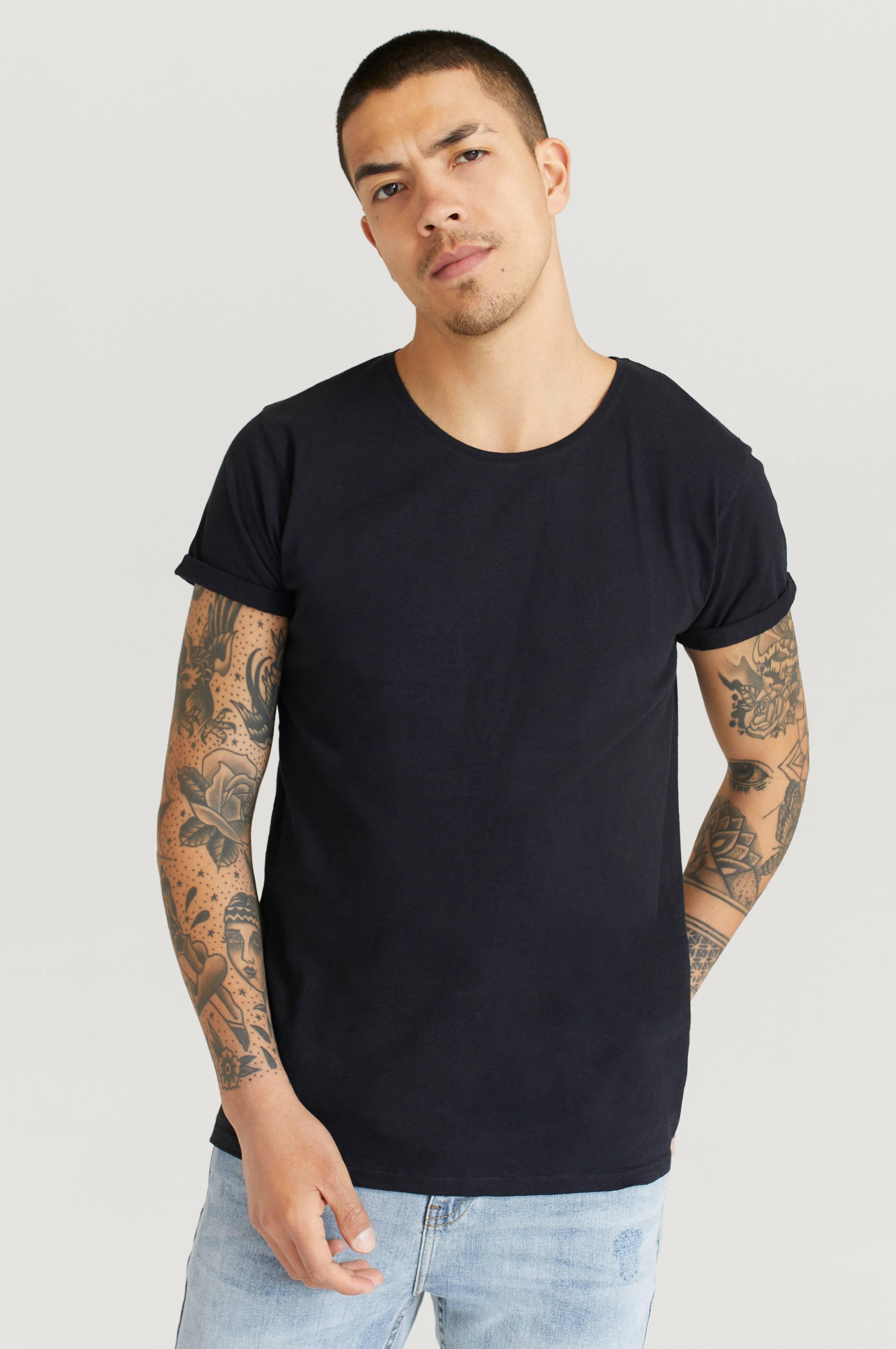 Resteröds T-shirt Jimmy Solid Cotton-linen Svart