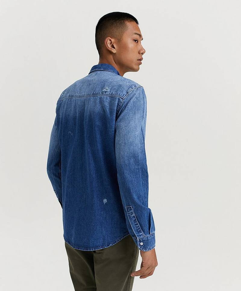 Jeansskjorte Ron Denim Shirt