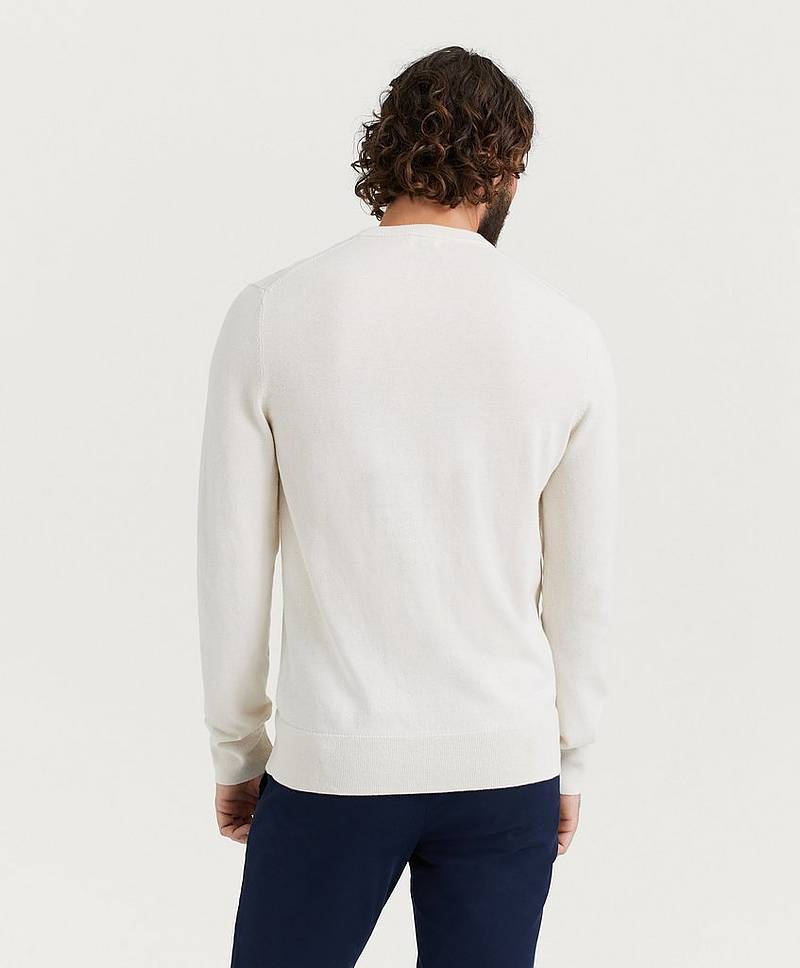 Stickad tröja Cotton Merino Basic Sweater