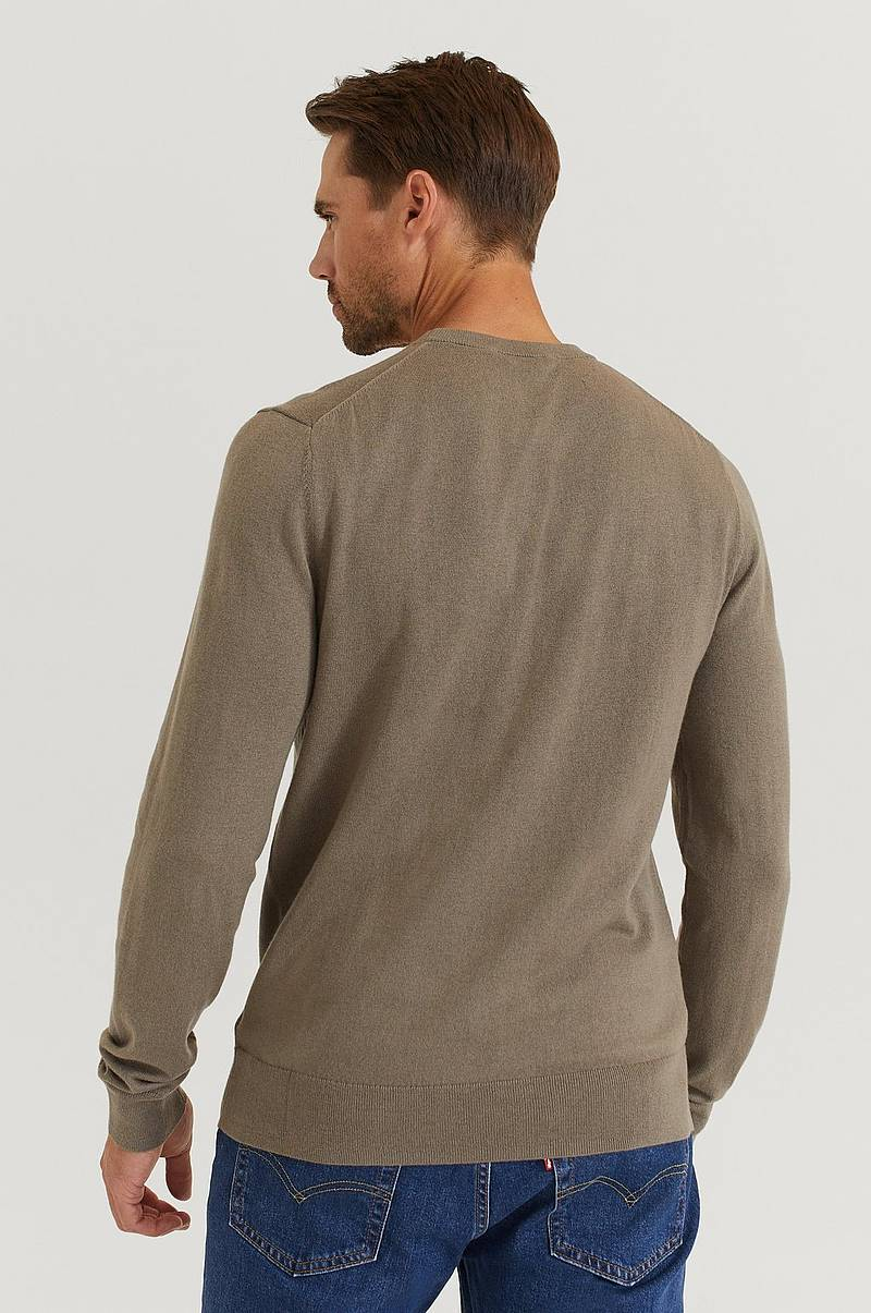 Striktrøje Cotton Merino Basic Sweater