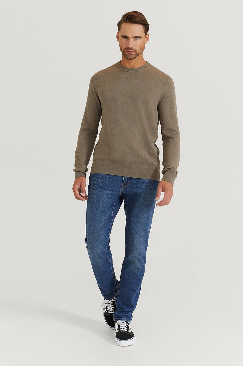 Strikket genser Cotton Merino Basic Sweater