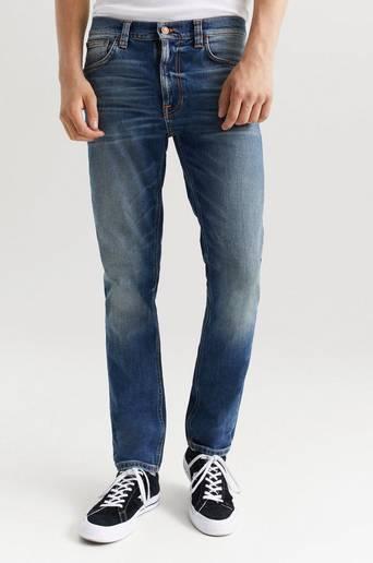 Nudie Jeans Jeans Lean Dean Blå