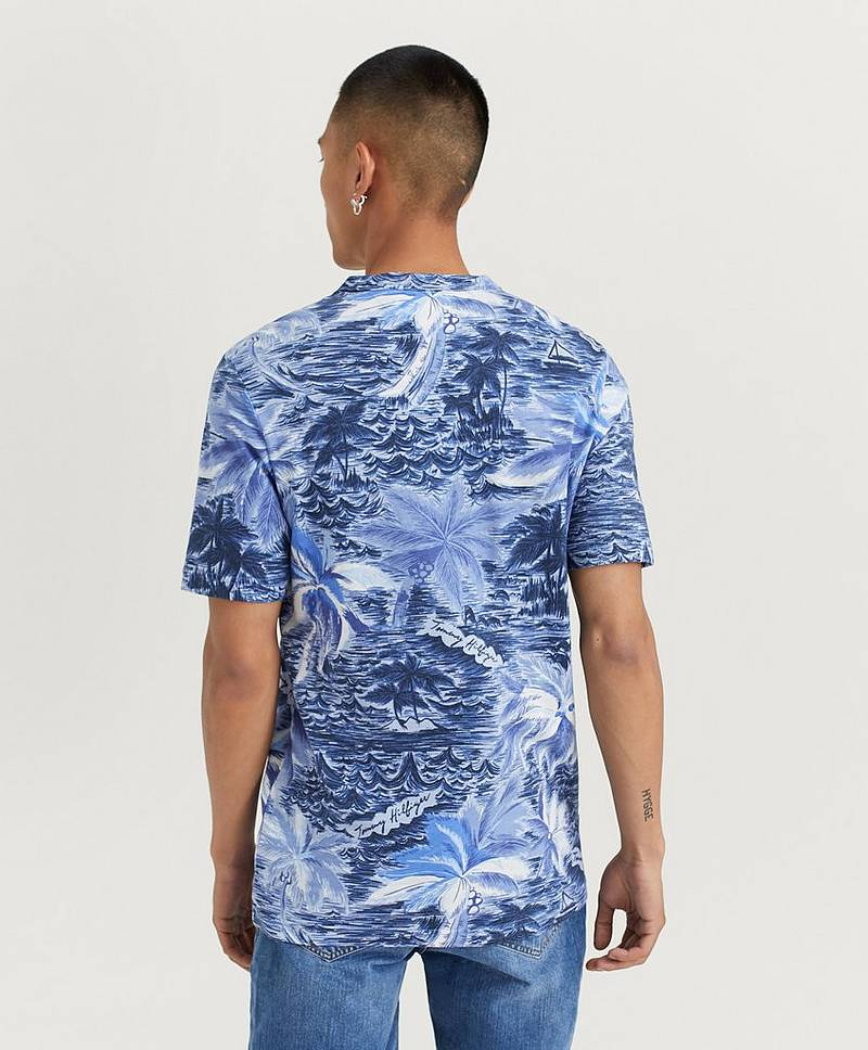 Palm Allover Print Tee