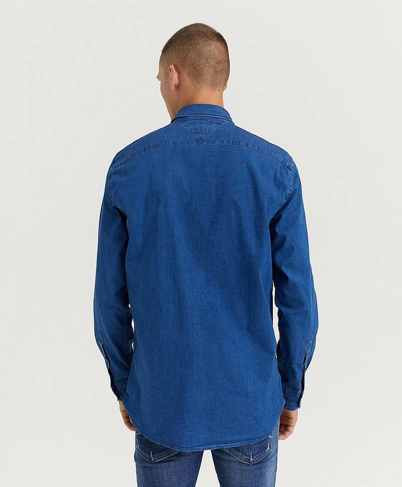 Jeansskjorte Organic Stretch Denim Shirt