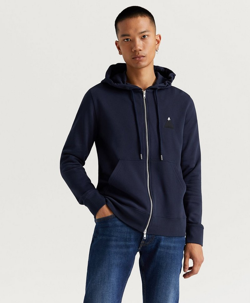 Hoodie Throw Zip Hood Cotten Sweat