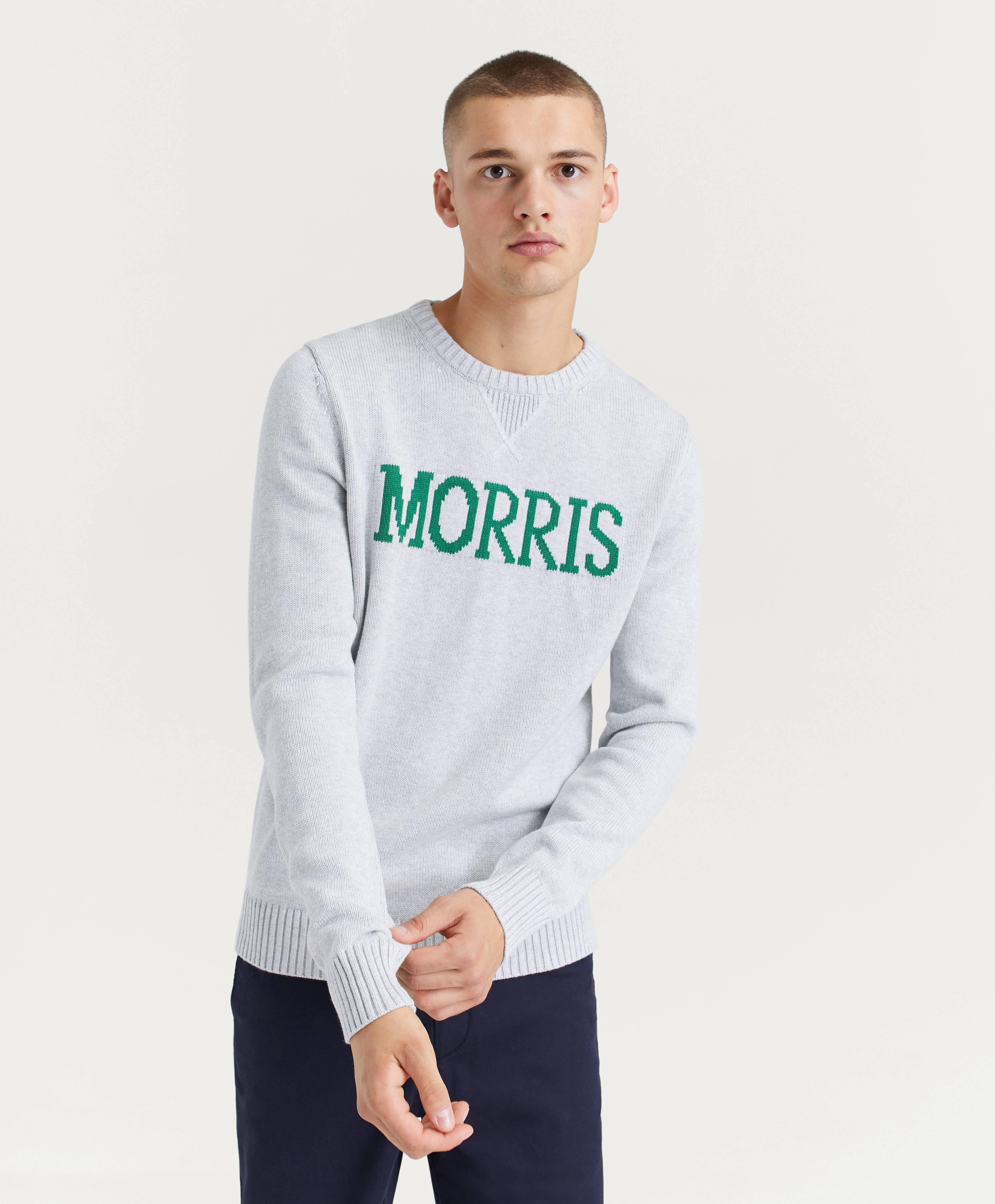 Morris Strikket genser Edward Oneck Grå Klær Stayhard.no