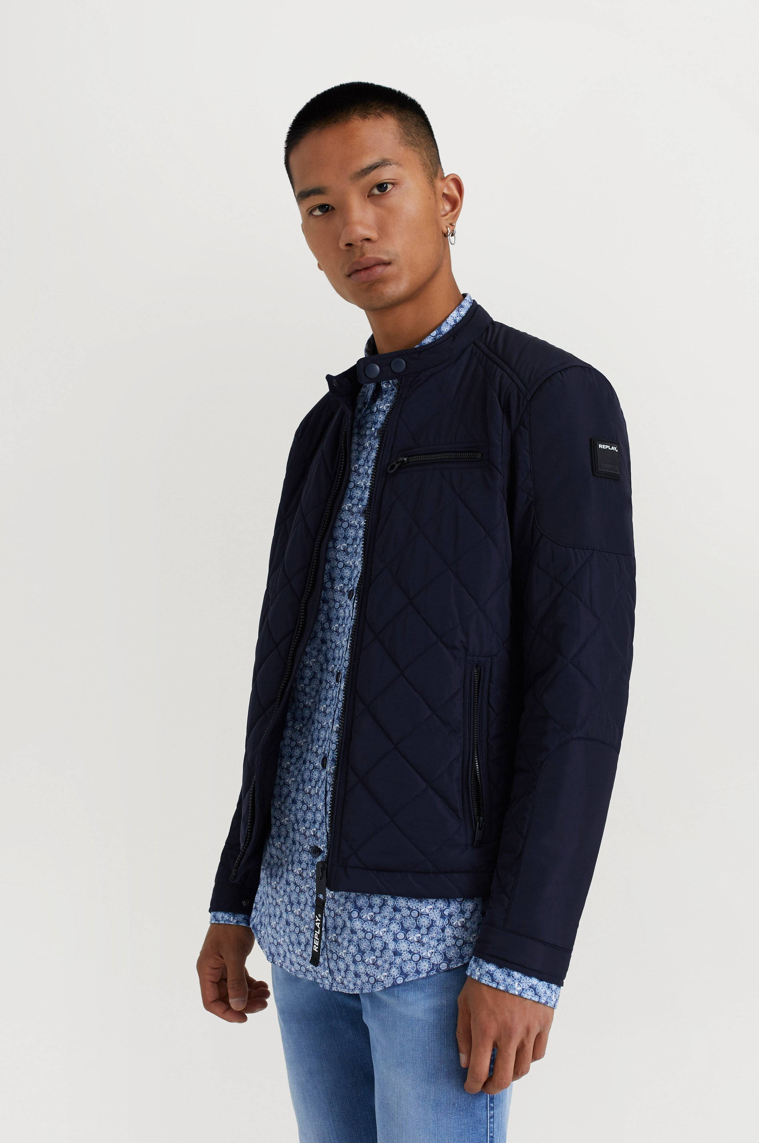Replay RBJ Quilted Jacket Blå