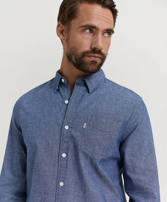 Levi's Skjorta Sunset 1 Pocket Shirt Blå