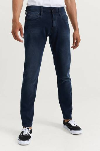 Replay Jeans Anbass Hyperflex + Blå