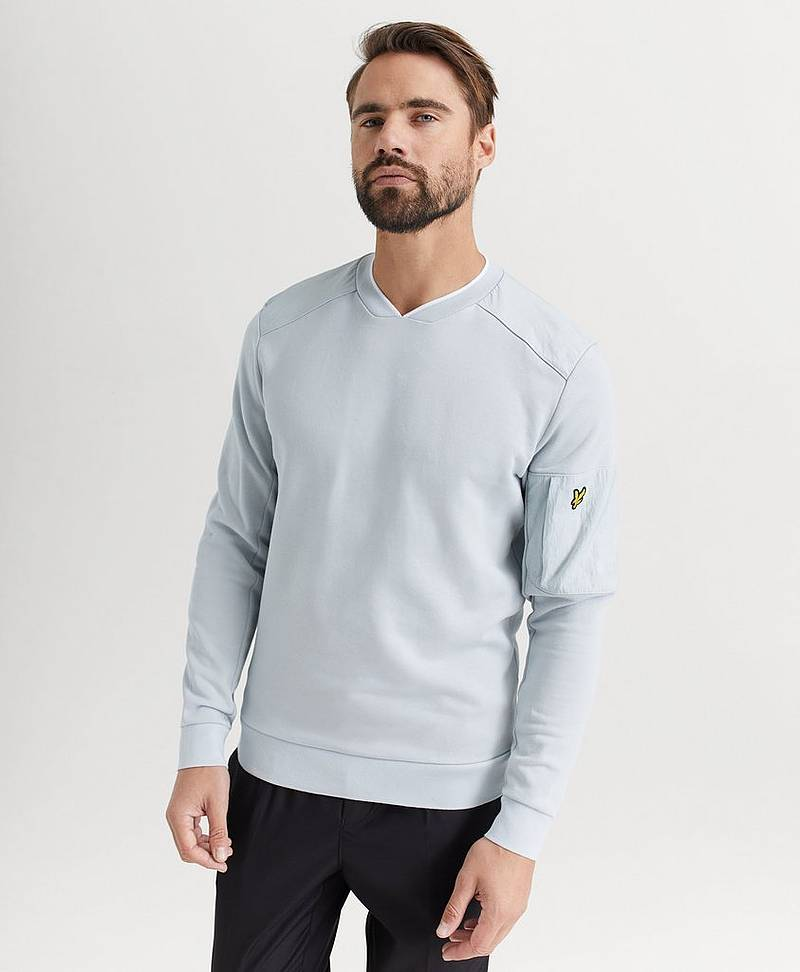 Sweatshirt Nylon Panel