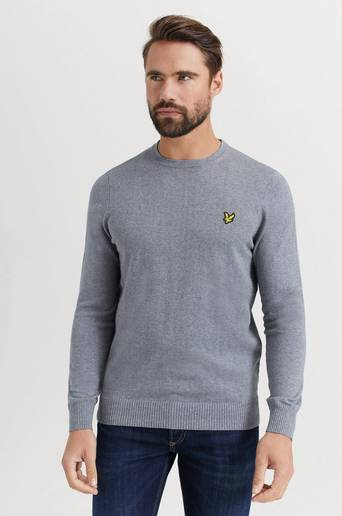 Lyle & Scott Tröja Crew Neck Cotton Merino Jumper Grå