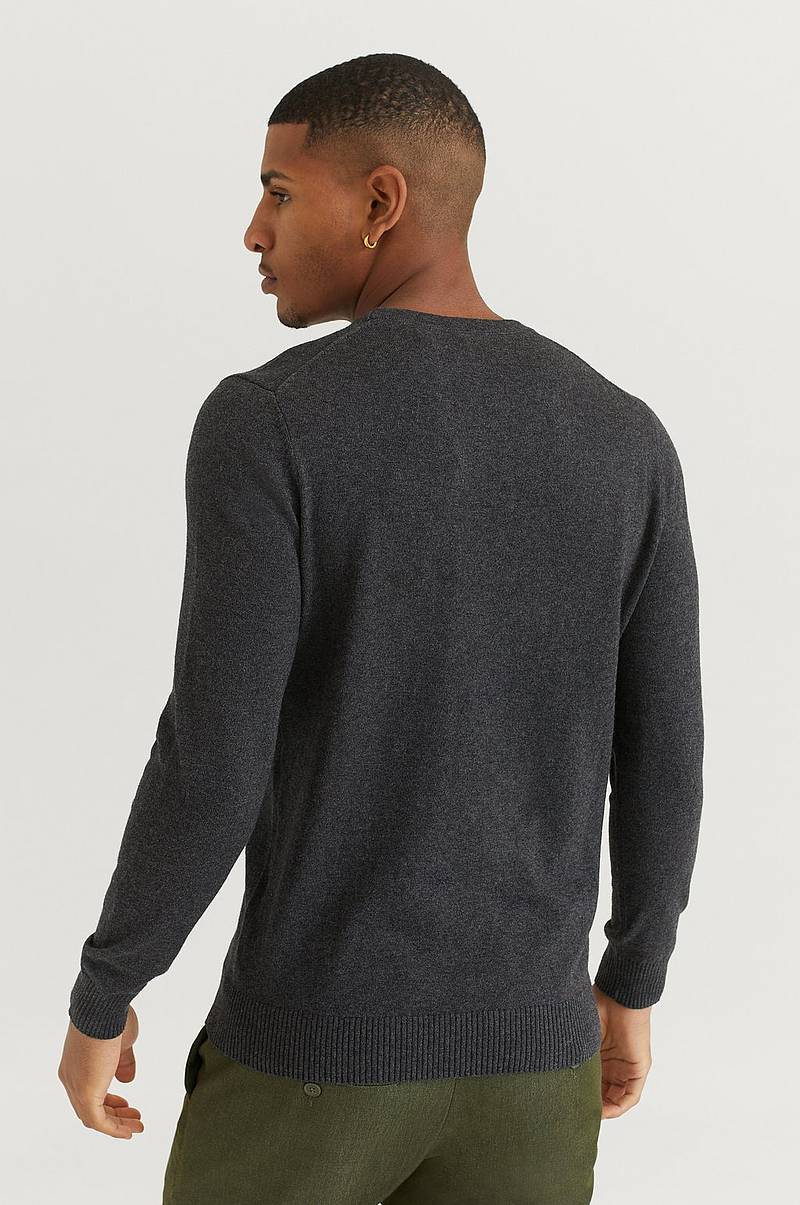 Neulepusero Crew Neck Cotton Merino Jumper