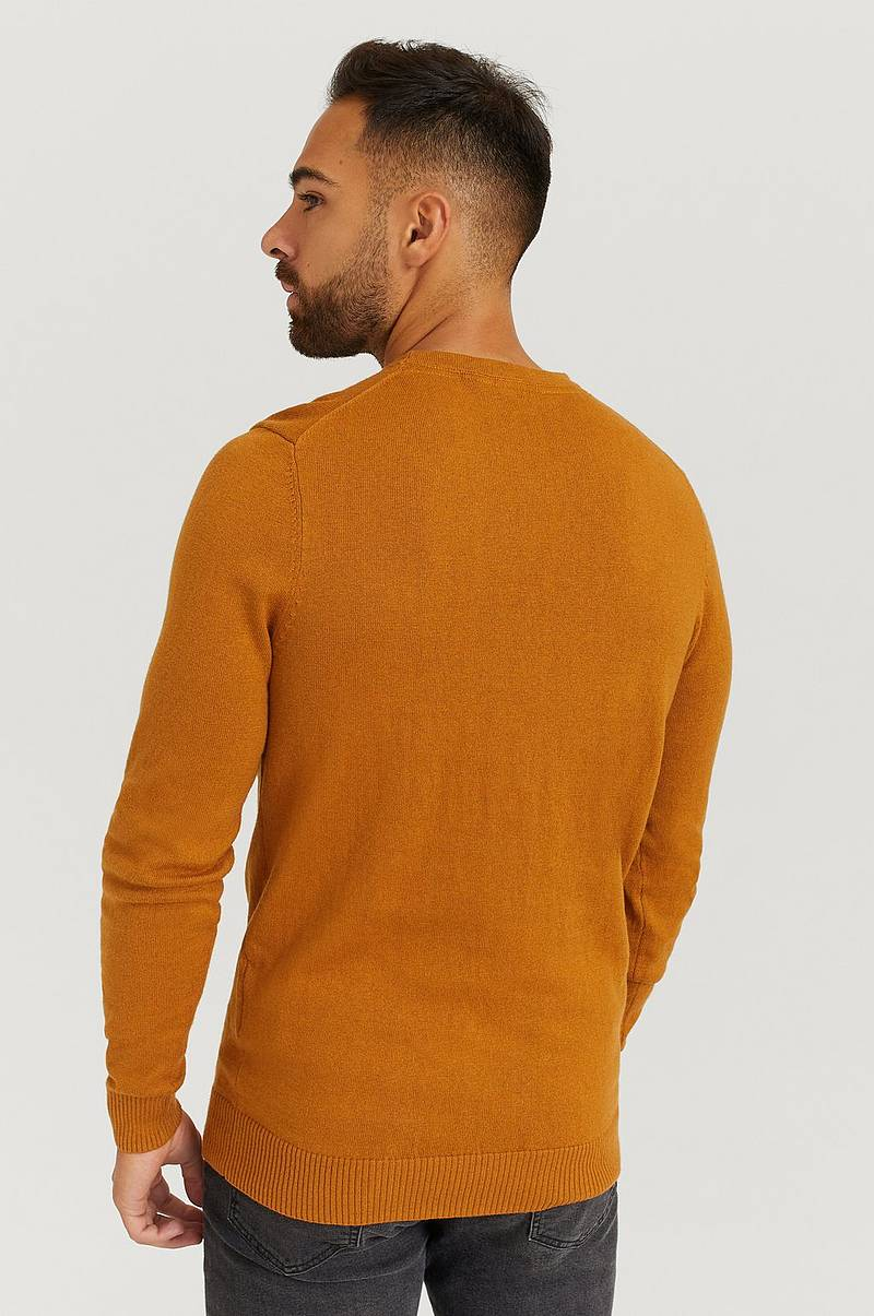 Genser Crew Neck Cotton Merino Jumper