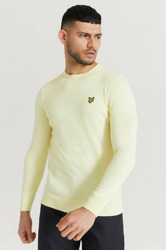 Lyle & Scott Tröja Crew Neck Cotton Merino Jumper Gul