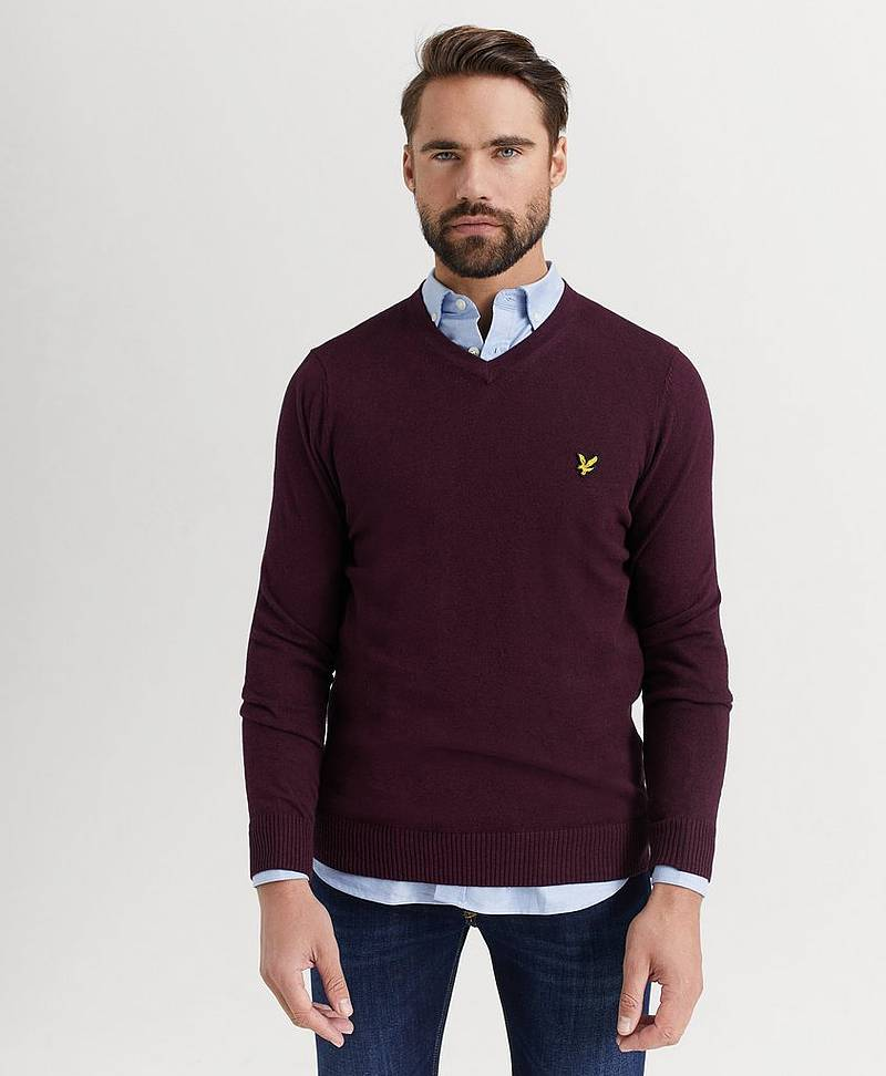 Tröja V-Neck Cotton Merino Jumper